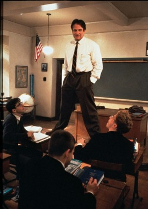 Robin Williams in L'attimo fuggente