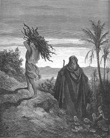 Abramo e Isacco in cammino per il sacrificio del giovane innocente