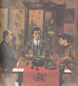Danielle Lavette a cena con May Ling e la sua famiglia in Gli emigranti