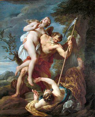 Tempo salva Verità da Invidia e Falsità, di François Lemoyne (1737).