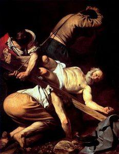 La crocefissione di San Pietro è una vicenda importante nella religione cattolica, da cui ho preso spunto per un brano di L'Ultimo Potere