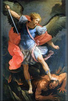 Michele sconfigge Satana: la luce sconfigge le tenebre