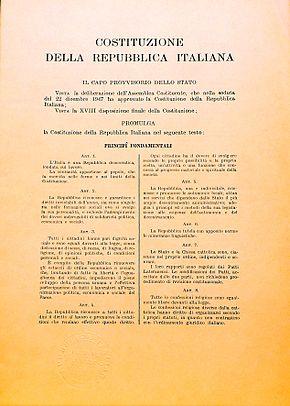 La Costituzione Italiana al centro della riforma costituzionale