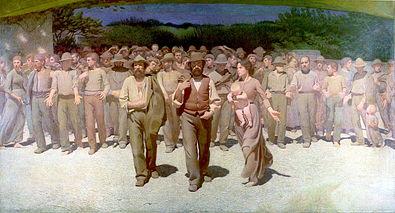 Il Quarto Stato, ottimo esempio della questione sociale sui diritti dei lavoratori