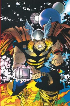 Copertina di Thor Ragnarok & Roll disegnata da Walter Simonson